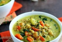 Vegan Chickpea And Vegetable Coconut Curry Soup